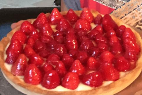 Tarte aux fraises Thermomix par Beadu06