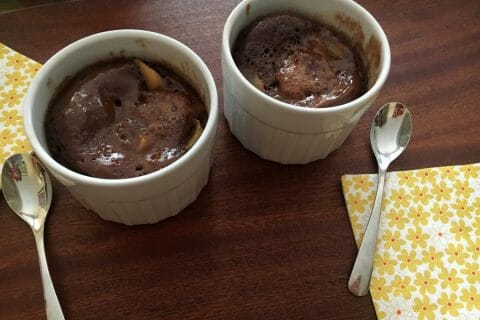 Mug cake poires chocolat Thermomix par Francesca