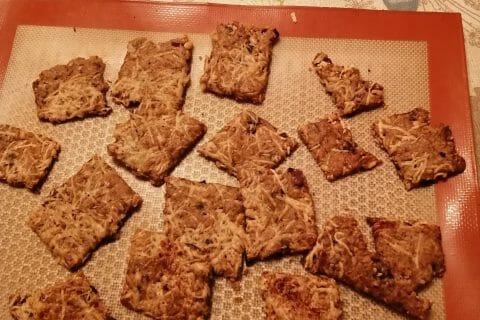 Crackers salés à l'emmental et aux graines au Thermomix