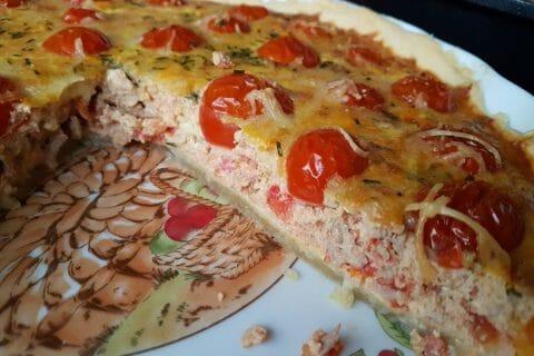 Tarte au thon, tomate et moutarde Thermomix par P.Mumu
