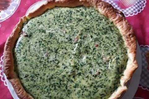 Quiche épinards et lardons Thermomix par Effie