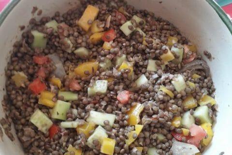Salade de lentilles Thermomix par Effie