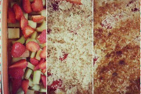 Crumble fraise rhubarbe et noix de coco Thermomix par Marionnette0851
