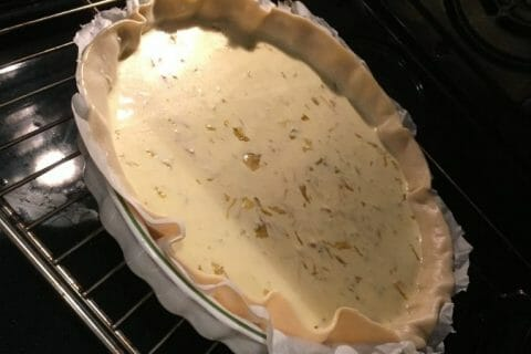 Tarte fondante aux endives et au curry au Thermomix