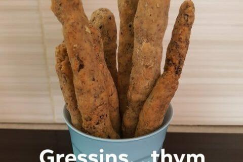 Gressins parmesan basilic Thermomix par kty55