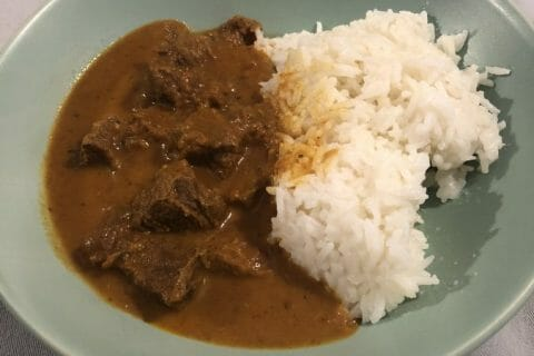 Curry de boeuf Thermomix par Valtana