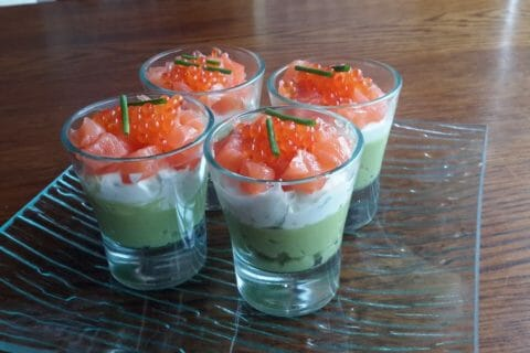 Verrines saumon avocat au Thermomix