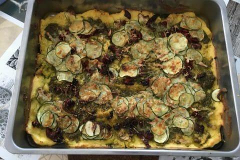 Polenta au pistou, tomates séchées et courgettes Thermomix par laetitia.giallara