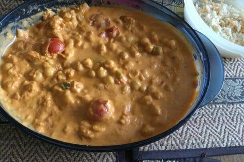 Curry de pois chiches au lait de coco au Thermomix
