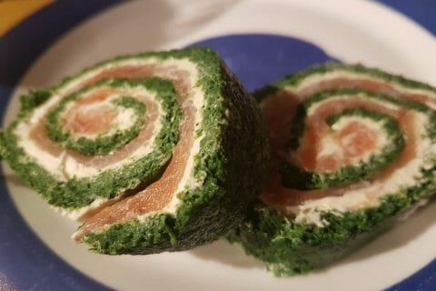 Roulé aux épinards, saumon et Boursin au Thermomix
