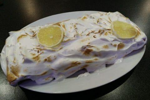 Bûche au citron meringuée au Thermomix