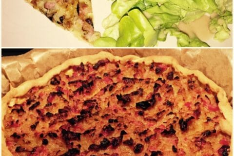 Tarte aux oignons, lardons et moutarde douce Thermomix par SevErine