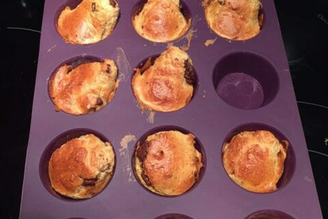 Muffins au son d'avoine et aux pépites de chocolat Thermomix par Clairev