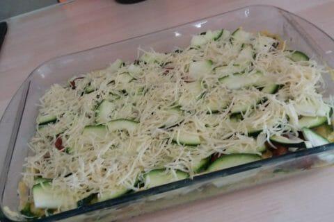 Polenta au pistou, tomates séchées et courgettes Thermomix par Marie2303