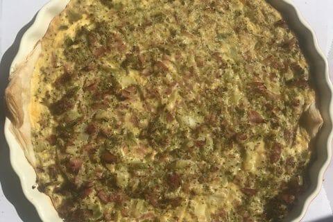 Quiche au brocoli et jambon au Thermomix
