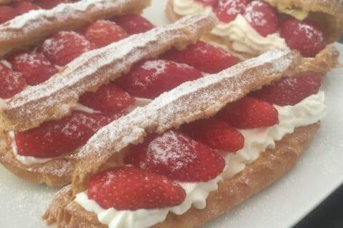Éclairs fraises chantilly Thermomix par Aurel85