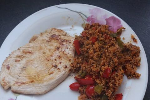 Quinoa sauce basquaise au Thermomix