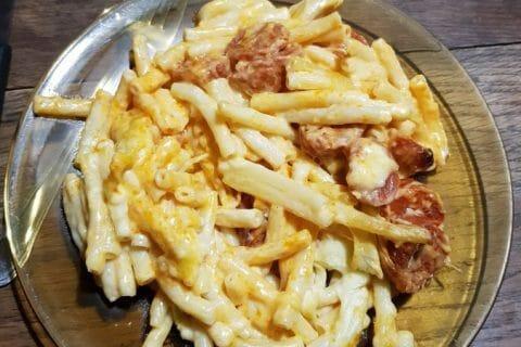 Gratin de macaroni reblochon et chorizo Thermomix par Luluap
