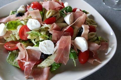 Salade de penne à l'italienne Thermomix par aliasval59