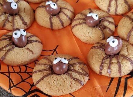 Spider cookies (cookies araignées) Thermomix par aliasval59