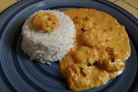 Curry de crevettes au lait de coco Thermomix par Dany33