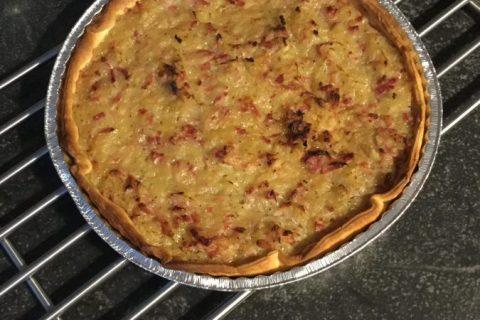 Tarte aux oignons, lardons et moutarde douce Thermomix par Sophie67