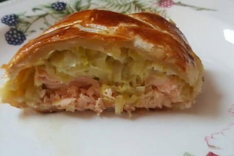 Feuilleté saumon et poireaux Thermomix par Girolata