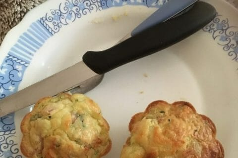 Muffins courgettes et saumon Thermomix par Noemy