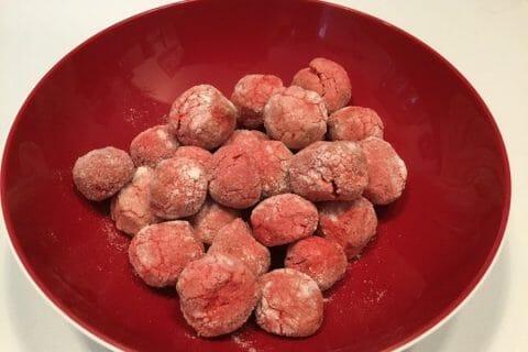 Craquelés aux biscuits roses de Reims Thermomix par Valoche32
