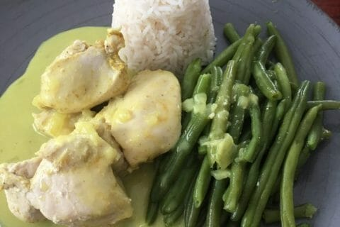 Blancs de poulet sauce moutarde et curry au Thermomix