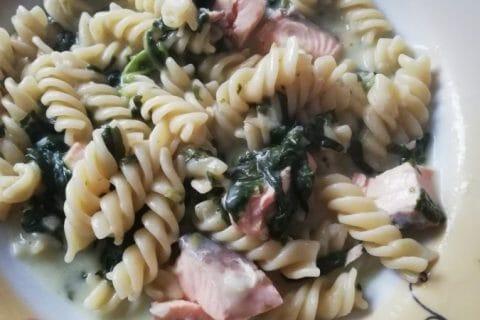 One pot pasta – épinards et saumon fumé Thermomix par Marilan34