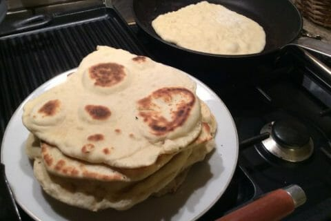Naans au fromage au Thermomix