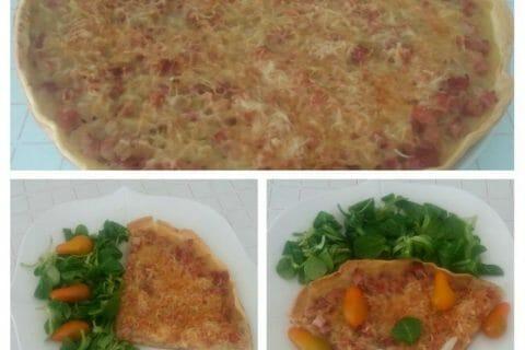 Tarte aux oignons, lardons et moutarde douce Thermomix par Adenium13