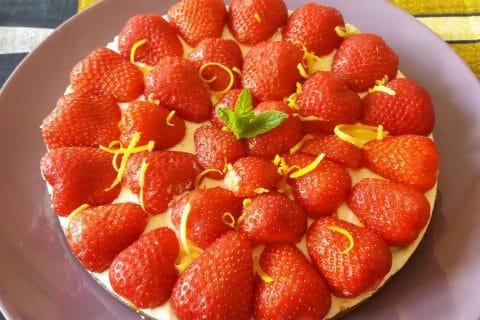 Tarte aux fraises sans cuisson Thermomix par Adenium13