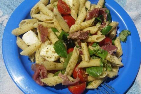 Salade de penne à l'italienne Thermomix par Adenium13