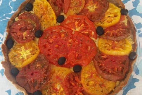 Tarte tomates et amandes Thermomix par Adenium13