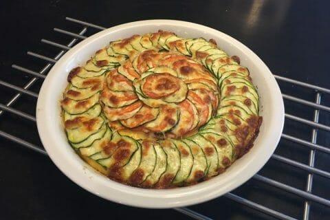 Polenta au pistou, tomates séchées et courgettes Thermomix par Mokaroyal