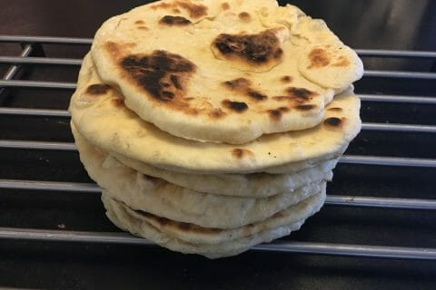 Naans au fromage Thermomix par Mokaroyal