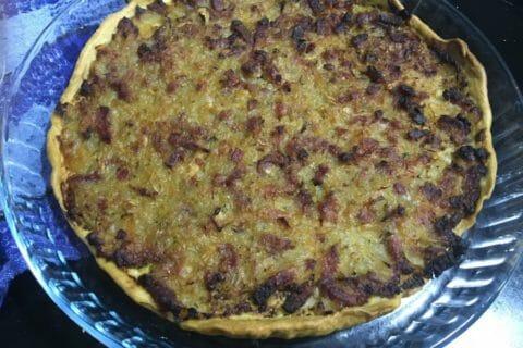 Tarte aux oignons, lardons et moutarde douce Thermomix par Fabienne974