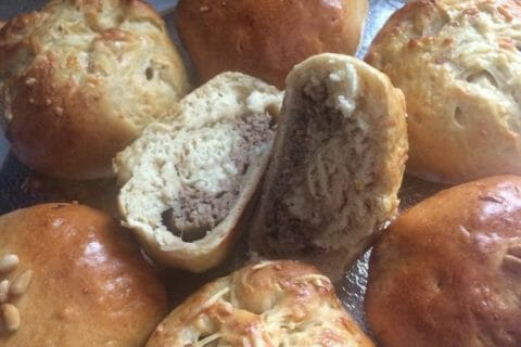 Petits pains farcis au boeuf Thermomix par Nor@