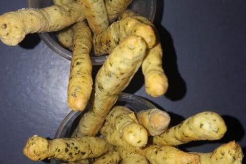 Gressins parmesan basilic Thermomix par grimlly