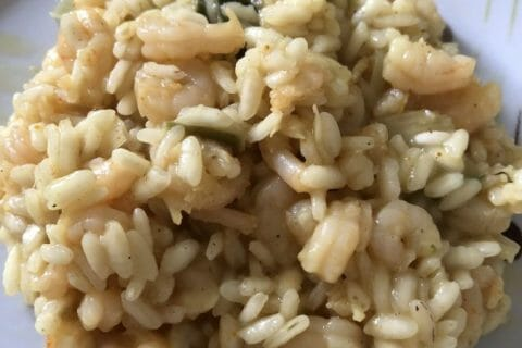 Risotto crevettes et curry Thermomix par Tiboutch