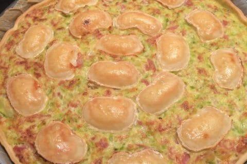Tarte courgette, jambon & chèvre Thermomix par Tiboutch
