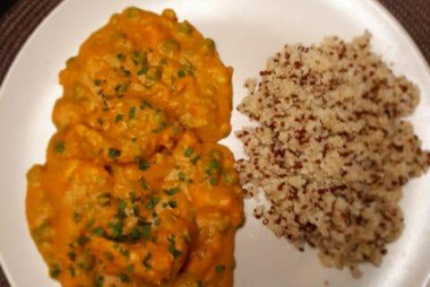 Curry de poulet aux patates douces Thermomix par Enelos