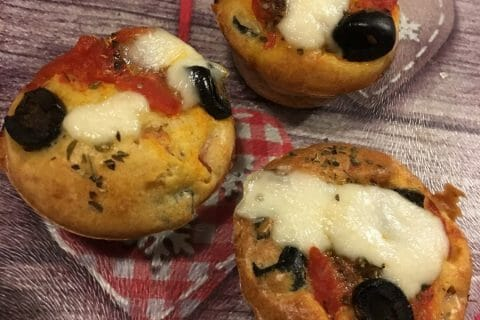 Muffins salés façon pizza Thermomix par Nathaly1975
