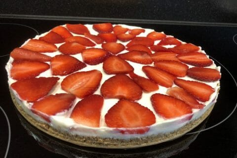 Tarte aux fraises sans cuisson Thermomix par Nininha