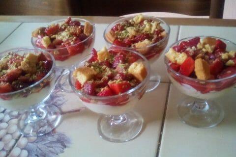 Tarte aux fraises destructurée Thermomix par Marialidon