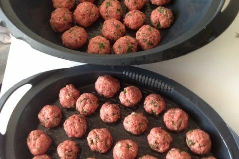 Boulettes de viandes à la sauce tomate Thermomix par Karined