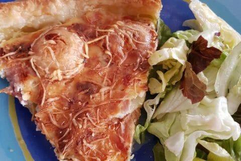 Tarte courgette, jambon & chèvre Thermomix par Moutonnette