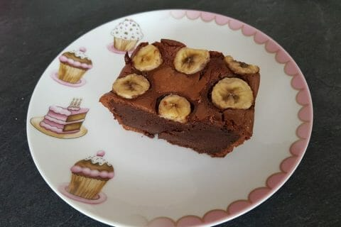 Brownie fondant choco-banane Thermomix par Moutonnette